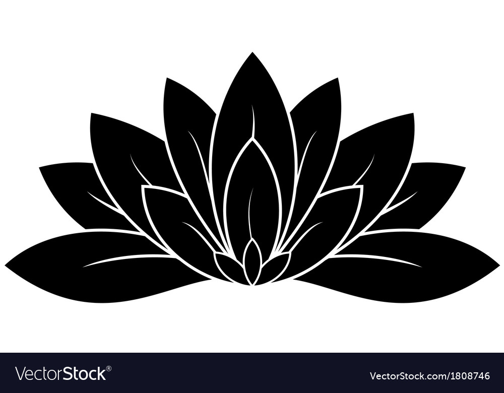 Lotus flower vector | Price: 1 Credit (USD $1)