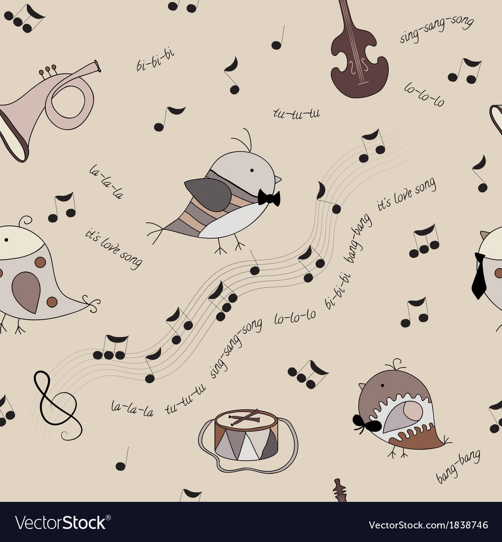 Music bird vector | Price: 1 Credit (USD $1)