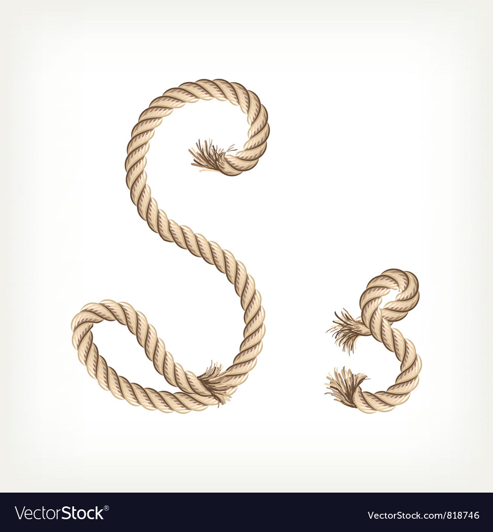 Rope alphabet letter s vector | Price: 1 Credit (USD $1)