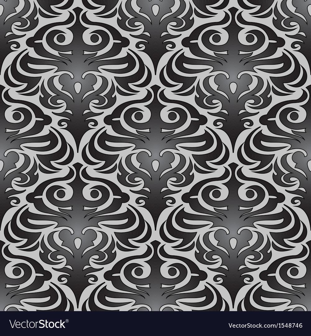 Seamless black wallpaper pattern vector | Price: 1 Credit (USD $1)