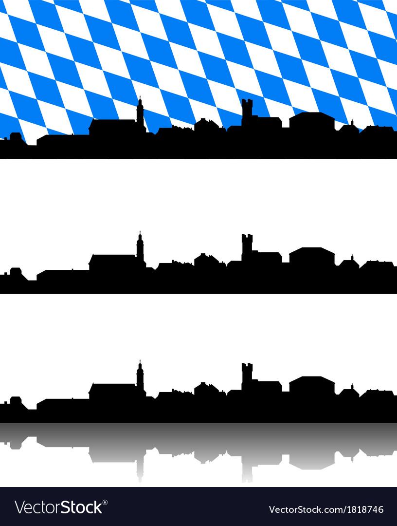 Silhouette of furth im wald bavaria vector | Price: 1 Credit (USD $1)