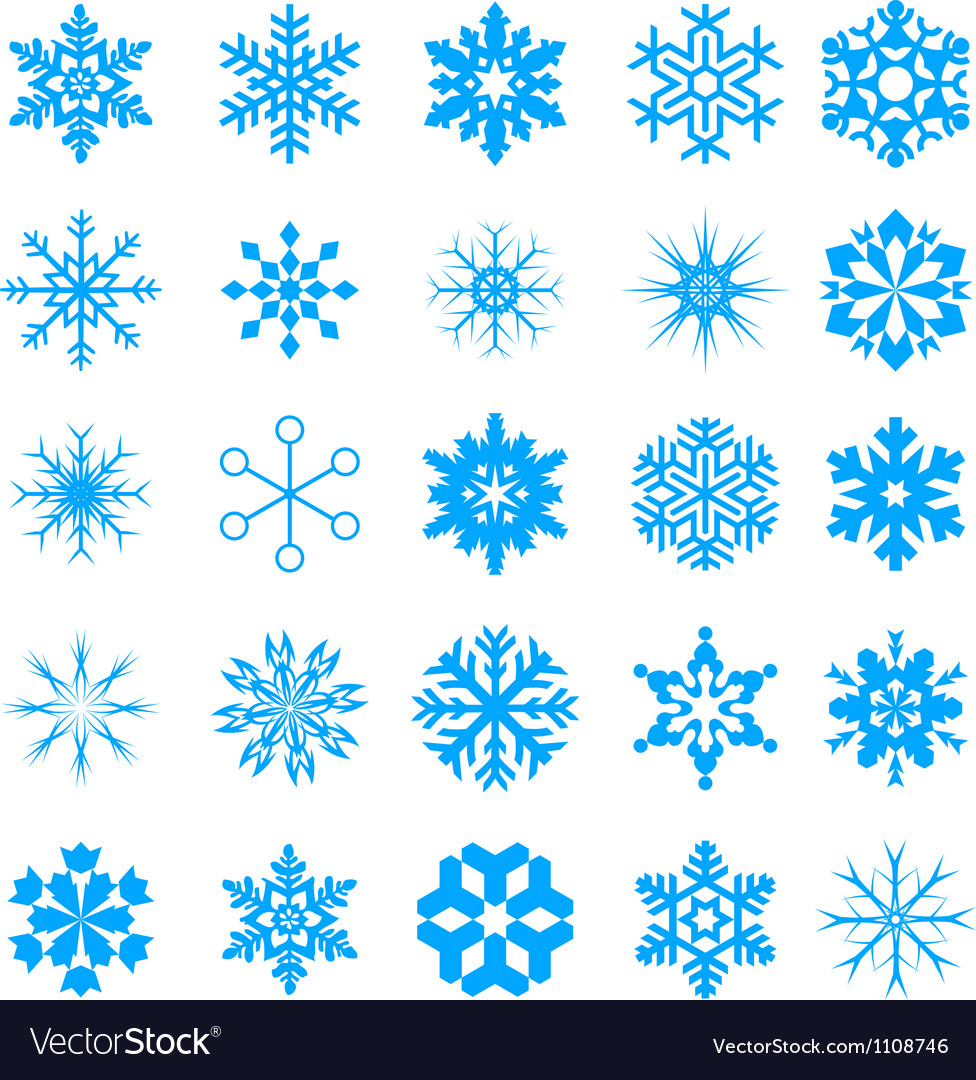 Snow crystal icon sets creative icon design serie vector | Price: 1 Credit (USD $1)