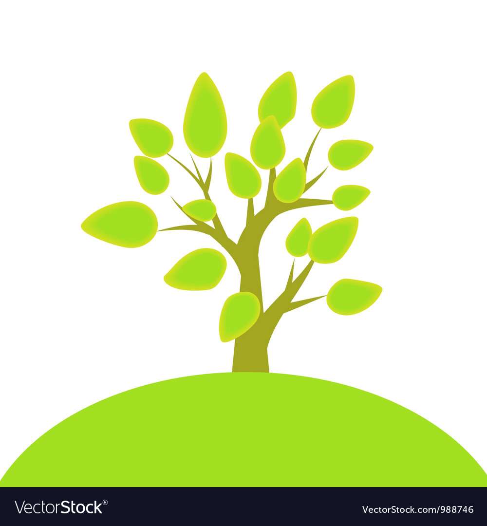 Tree and hill vector | Price: 1 Credit (USD $1)