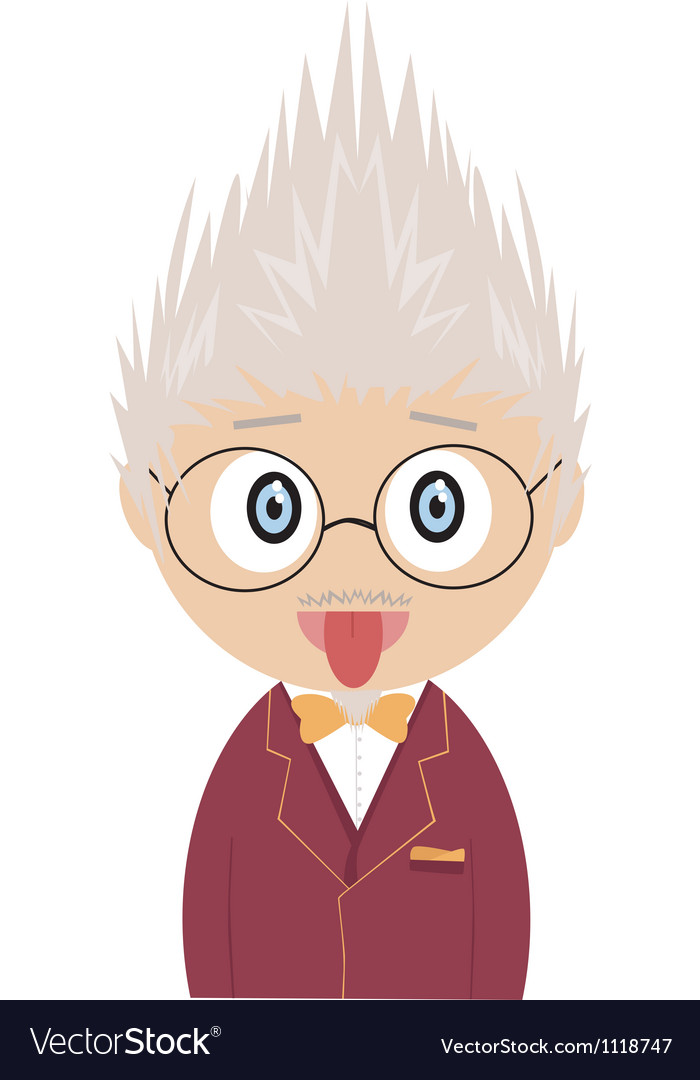 Crazy professor vector | Price: 1 Credit (USD $1)