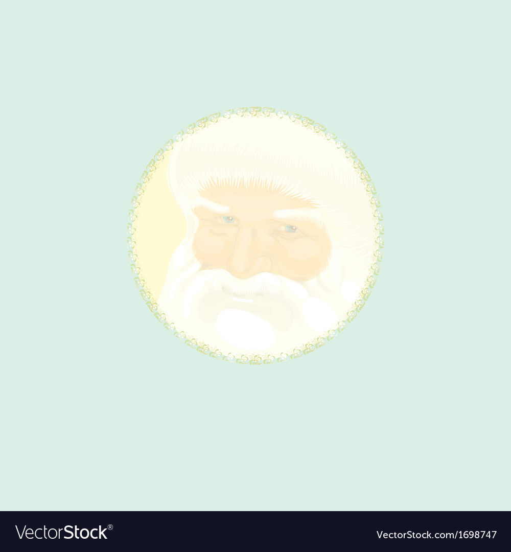 Cristmas decoration with father christmas vector | Price: 1 Credit (USD $1)