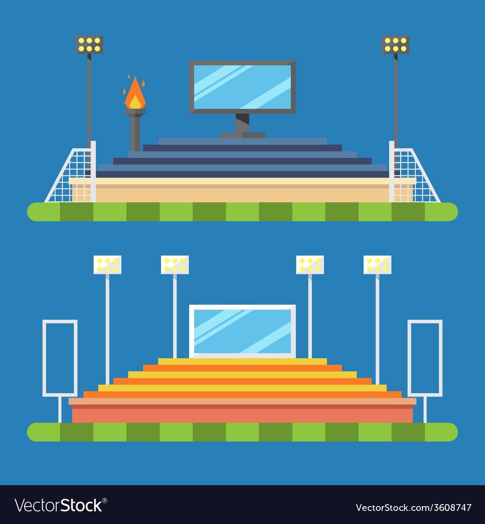 Flat design of sport stadium vector | Price: 1 Credit (USD $1)
