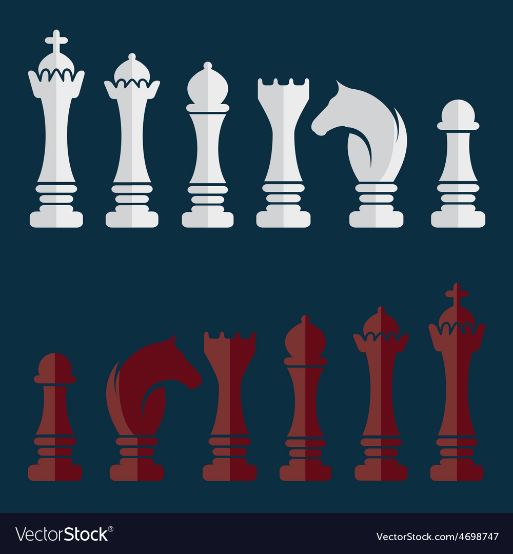 Flat set of chess icons vector | Price: 1 Credit (USD $1)