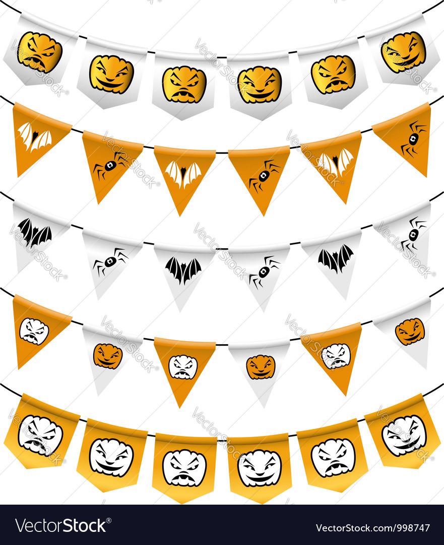 Halloween bunting flags vector | Price: 1 Credit (USD $1)