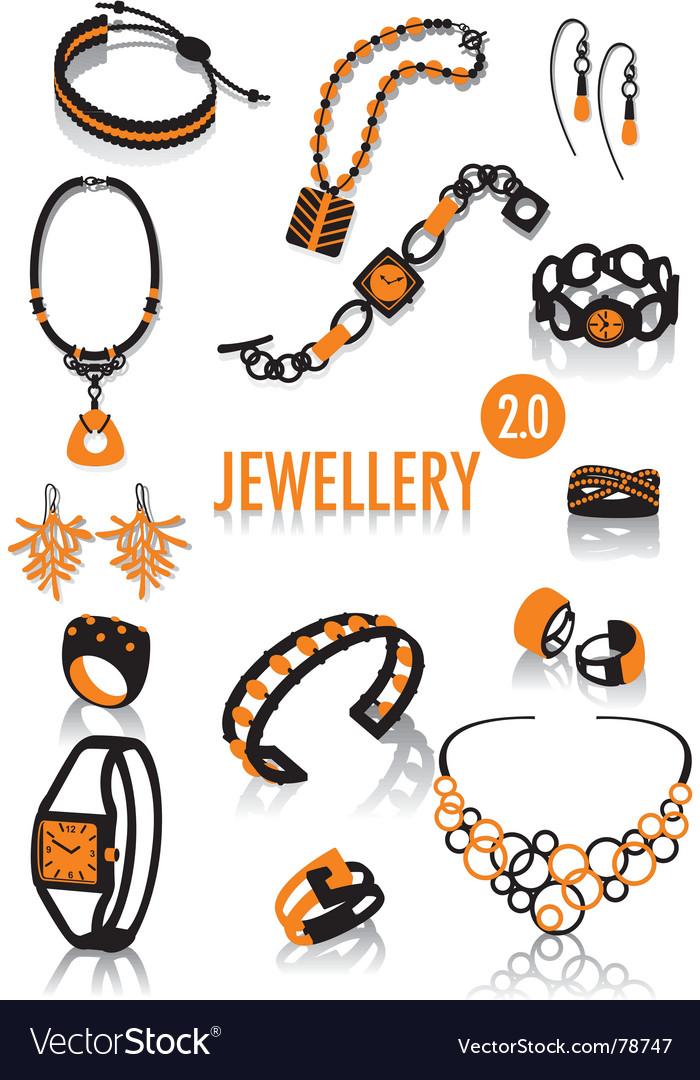 Jeweler silhouettes vector
