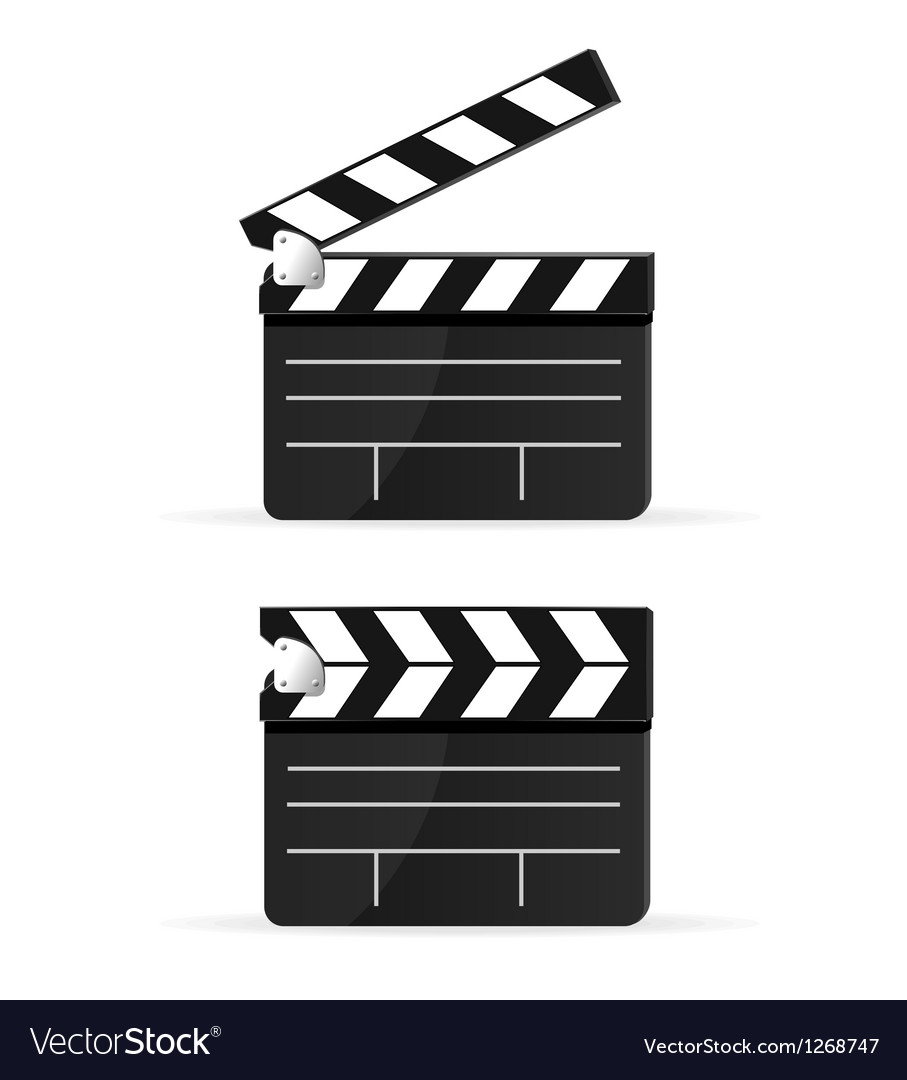 Movie clapper board set isolated vector | Price: 1 Credit (USD $1)