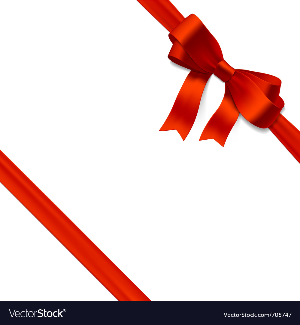 Red gift bow with ribbon vector | Price: 1 Credit (USD $1)