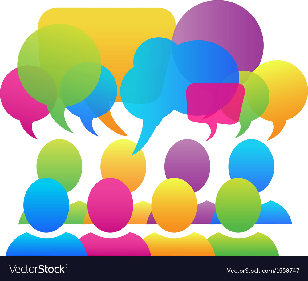 Social media speech bubbles logo vector | Price: 1 Credit (USD $1)