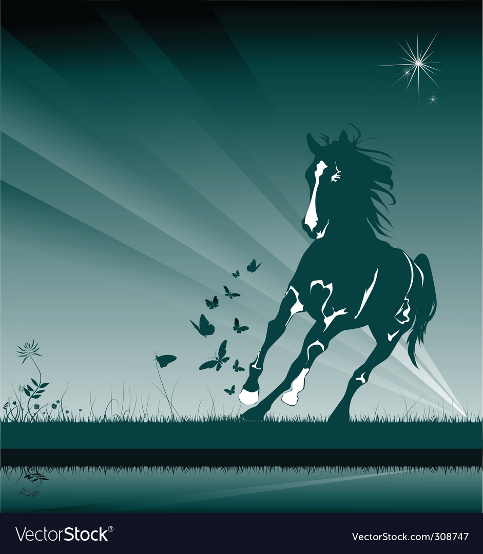 Wild horse vector | Price: 1 Credit (USD $1)