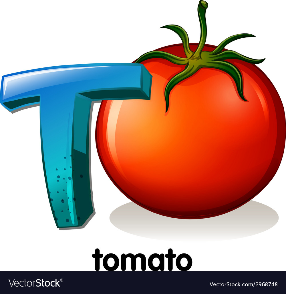 A letter t for tomato vector | Price: 1 Credit (USD $1)