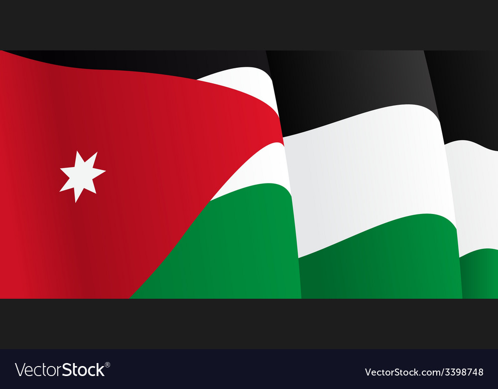 Background with waving jordan flag vector | Price: 1 Credit (USD $1)