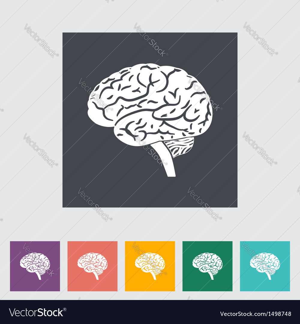 Brain icon 2 vector | Price: 1 Credit (USD $1)