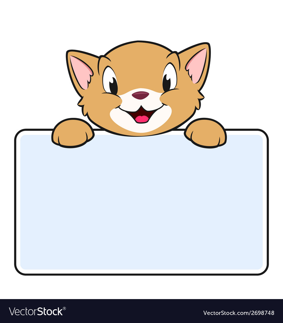 Cartoon banner cat vector | Price: 1 Credit (USD $1)