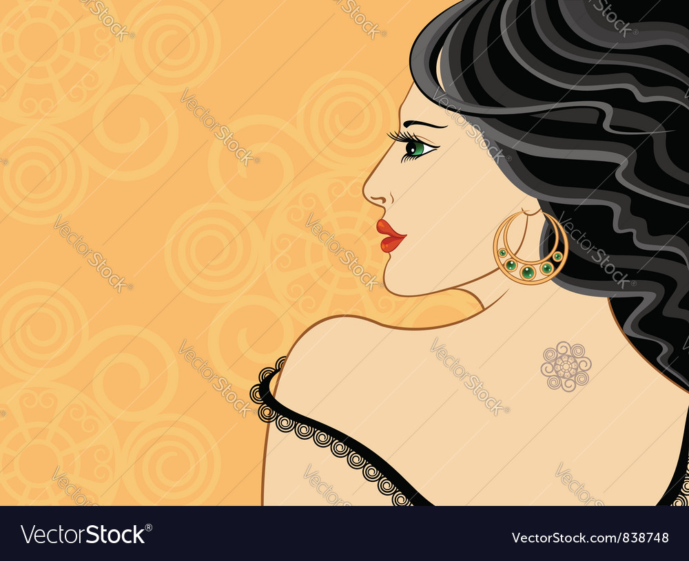 Elegant brunette vector | Price: 3 Credit (USD $3)