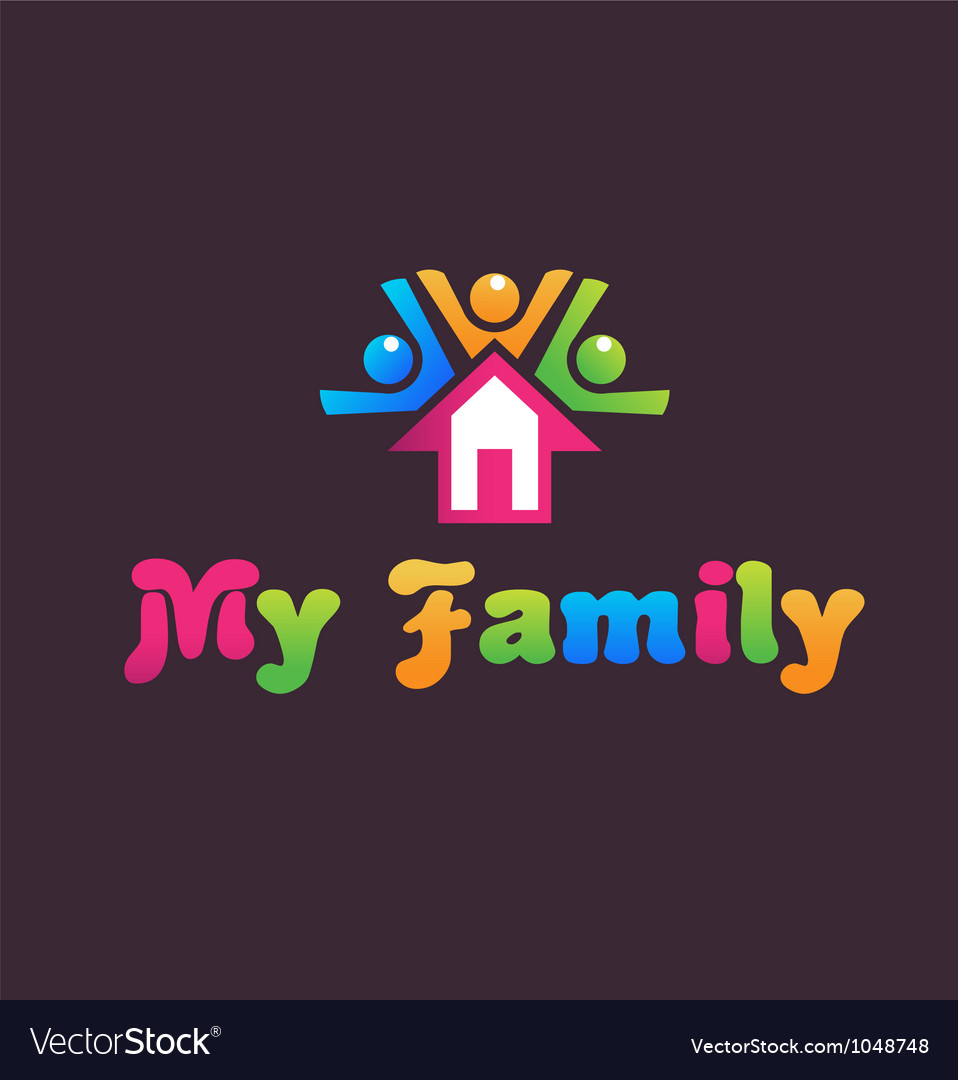 Family house vector | Price: 1 Credit (USD $1)