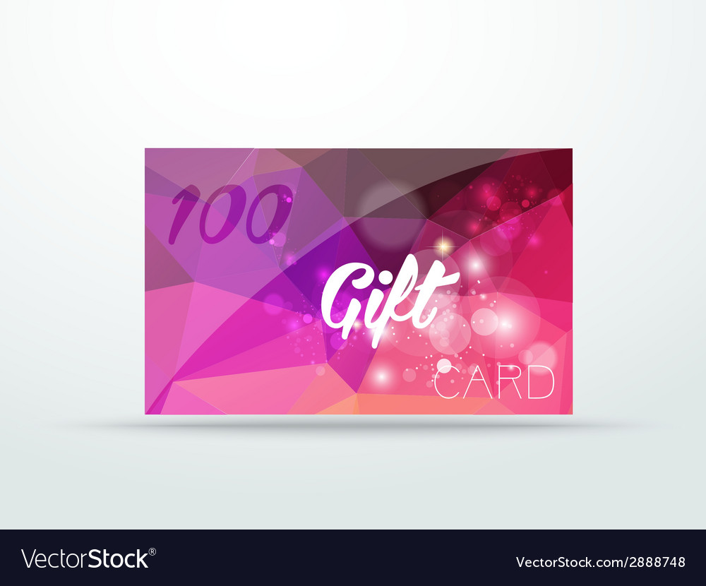 Gift greeting card violet lila rose glitter with vector | Price: 1 Credit (USD $1)