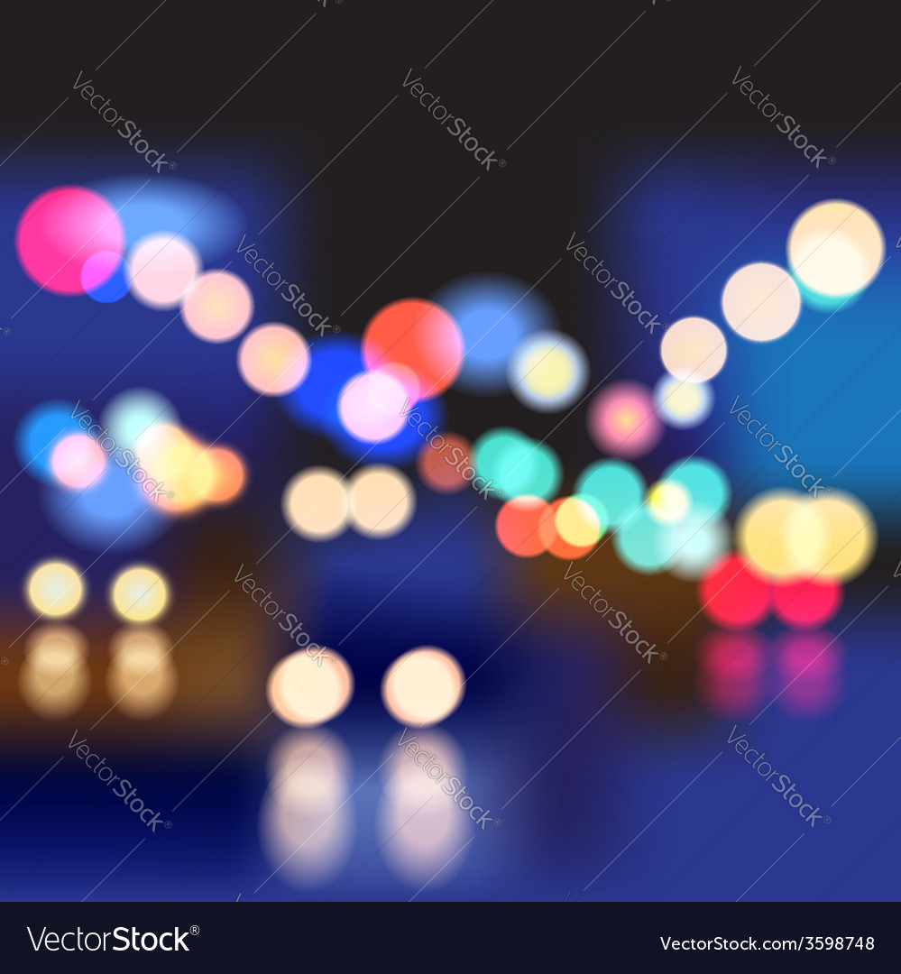 Night street vector | Price: 1 Credit (USD $1)