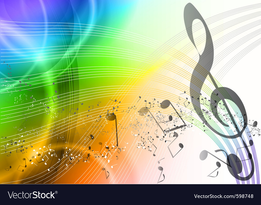 Rainbow music vector | Price: 1 Credit (USD $1)