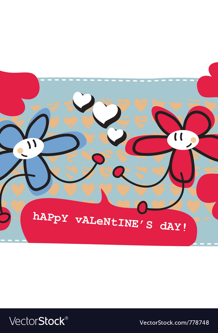 Valentines day doodle card vector | Price: 1 Credit (USD $1)