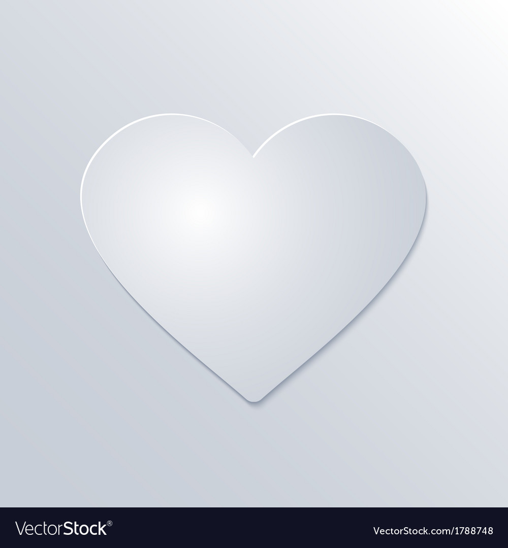 Valentines day paper heart on white background vector | Price: 1 Credit (USD $1)
