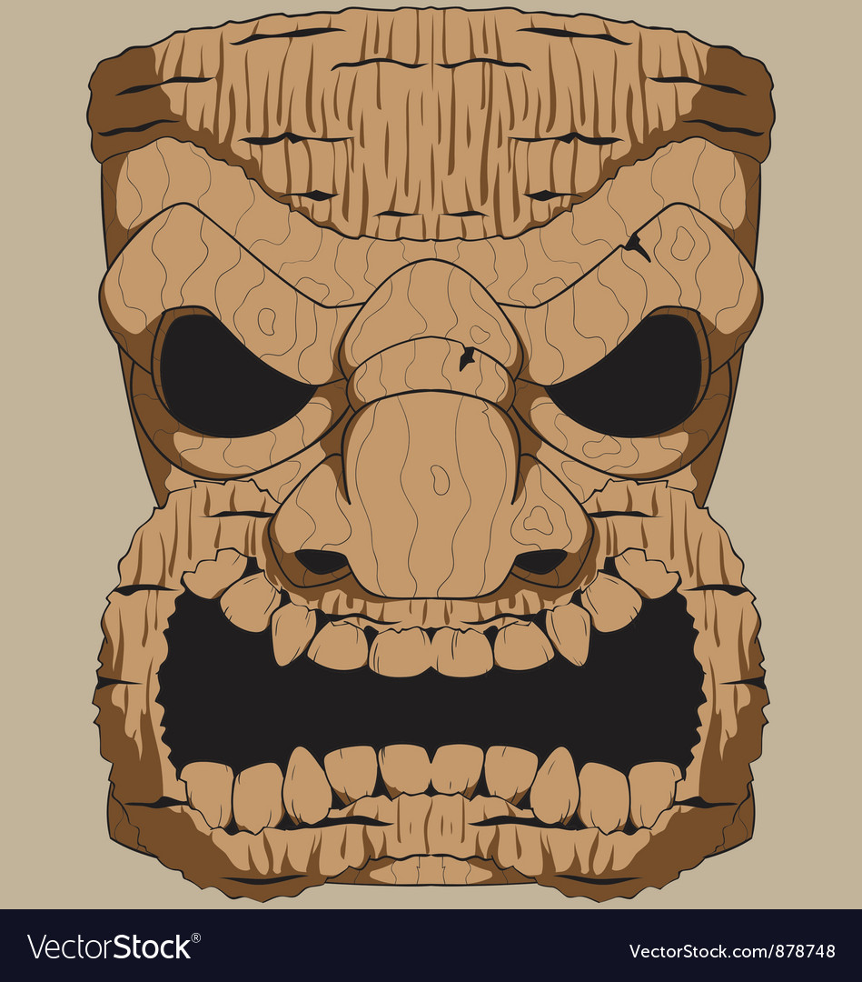 Wooden tiki carving vector | Price: 1 Credit (USD $1)
