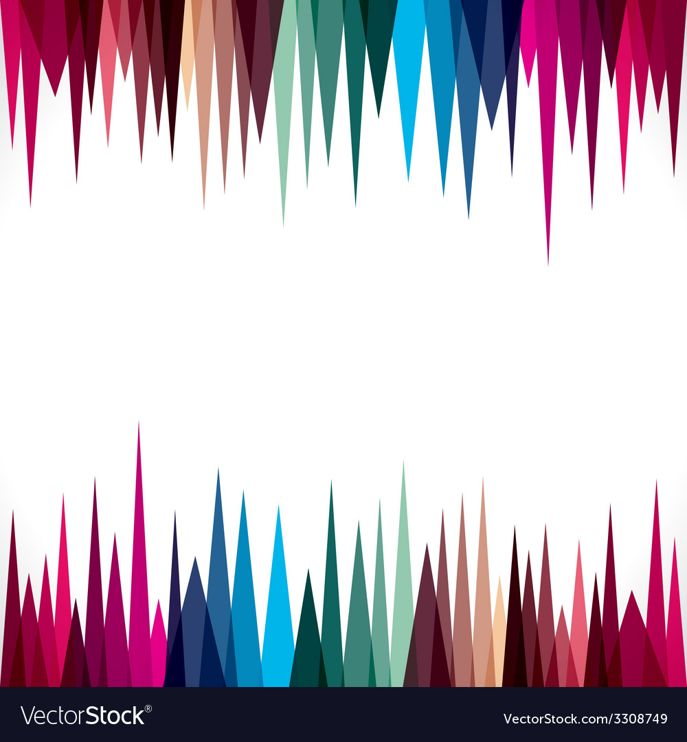 Abstract triangular border design stock vector | Price: 1 Credit (USD $1)