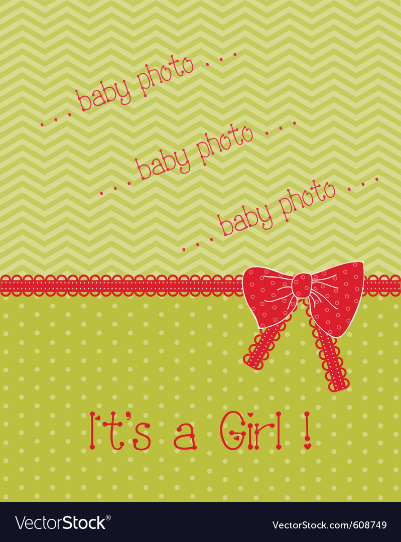 Baby arrival card with place for your photo or tex vector | Price: 1 Credit (USD $1)