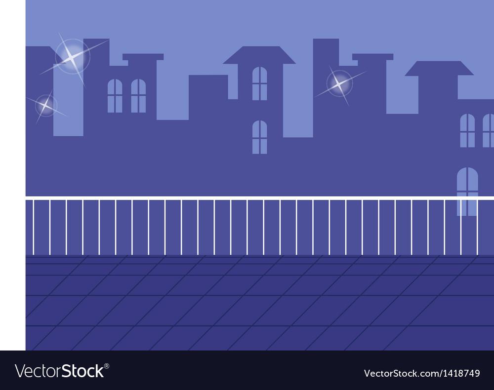 Balcony cityscape view vector | Price: 1 Credit (USD $1)