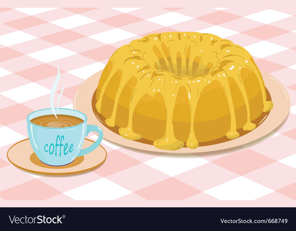 Cake and coffee vector | Price: 1 Credit (USD $1)