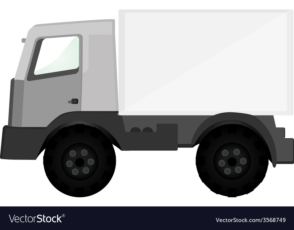 Delivery car grey vector | Price: 1 Credit (USD $1)