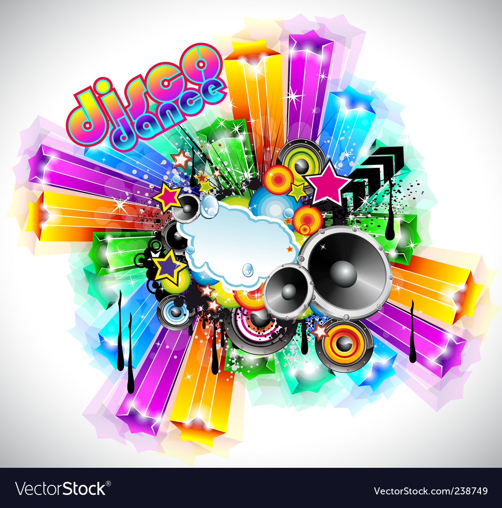 Disco event background vector | Price: 3 Credit (USD $3)