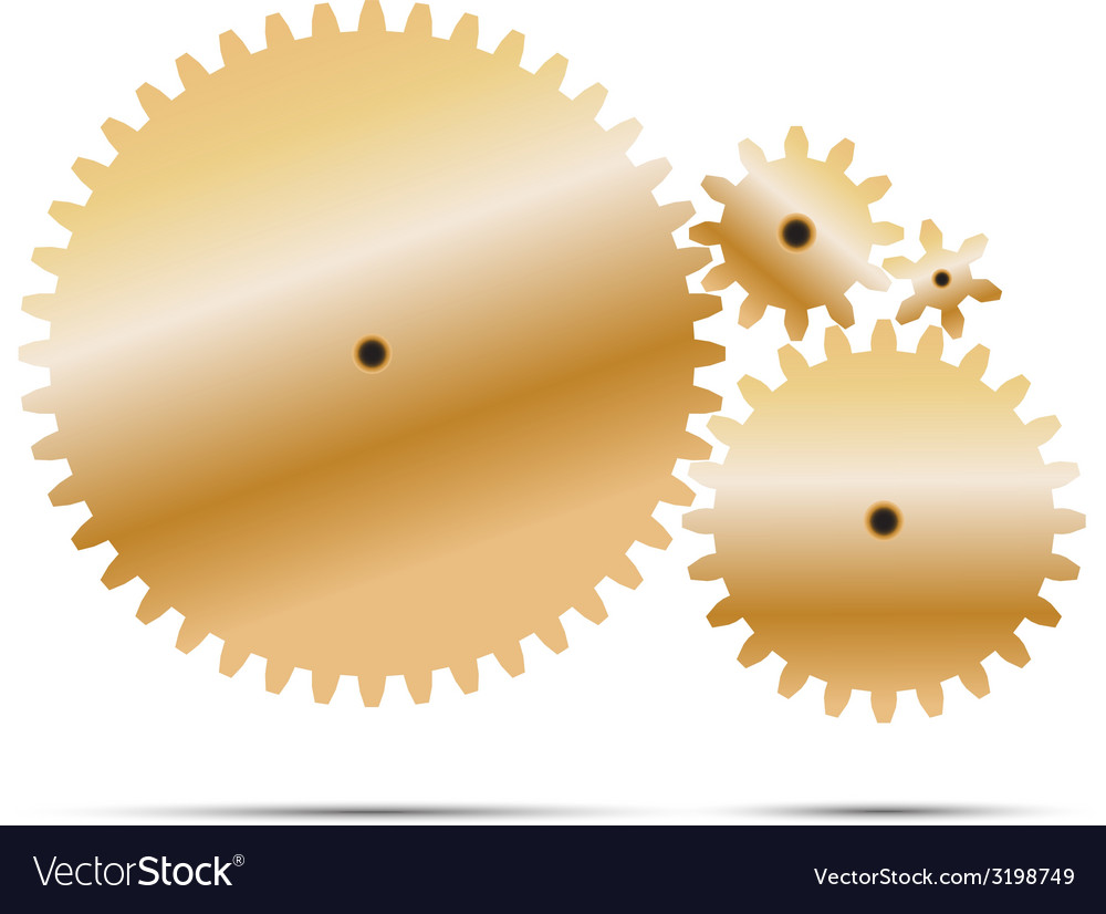 Golden gear and cogwheel vector | Price: 1 Credit (USD $1)