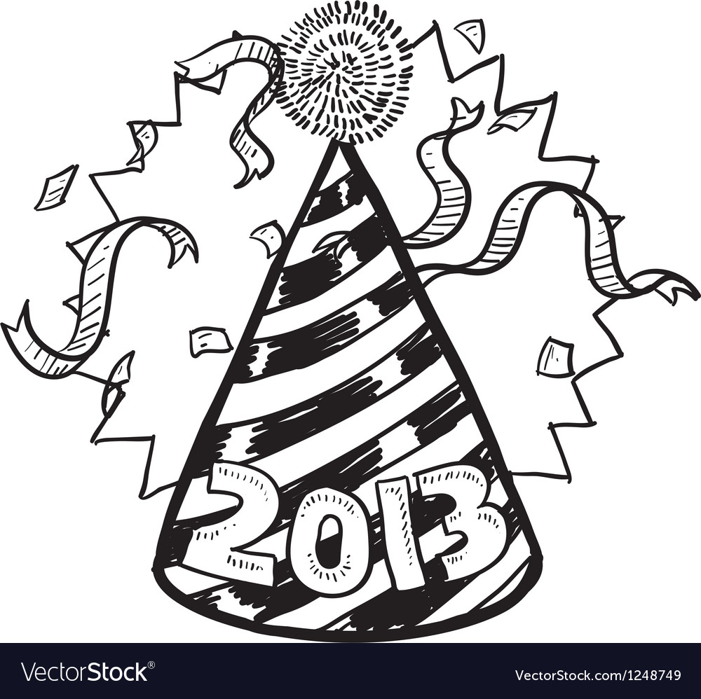 Happy new year hat 2013 vector | Price: 1 Credit (USD $1)