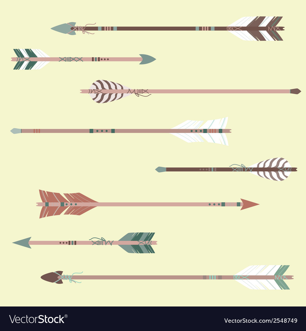 Set of colorful ethnic arrows vector | Price: 1 Credit (USD $1)