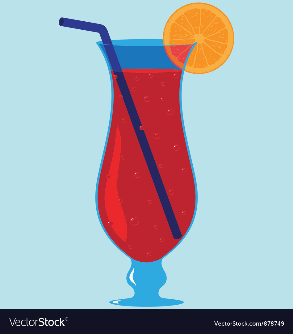 Tropical cocktail drink vector | Price: 1 Credit (USD $1)