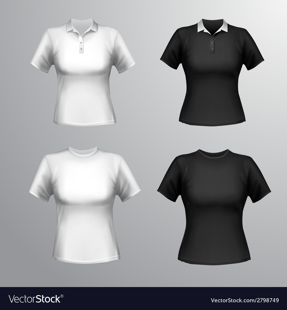 T-shirts female set vector | Price: 1 Credit (USD $1)