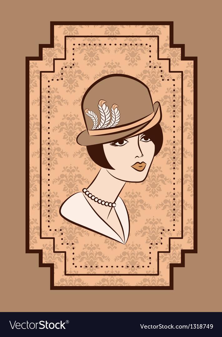 Vintage fashion model vector | Price: 1 Credit (USD $1)