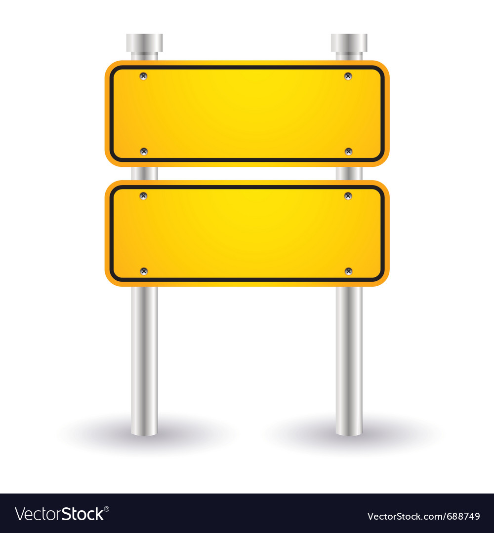 Yellow blank road sign vector | Price: 1 Credit (USD $1)