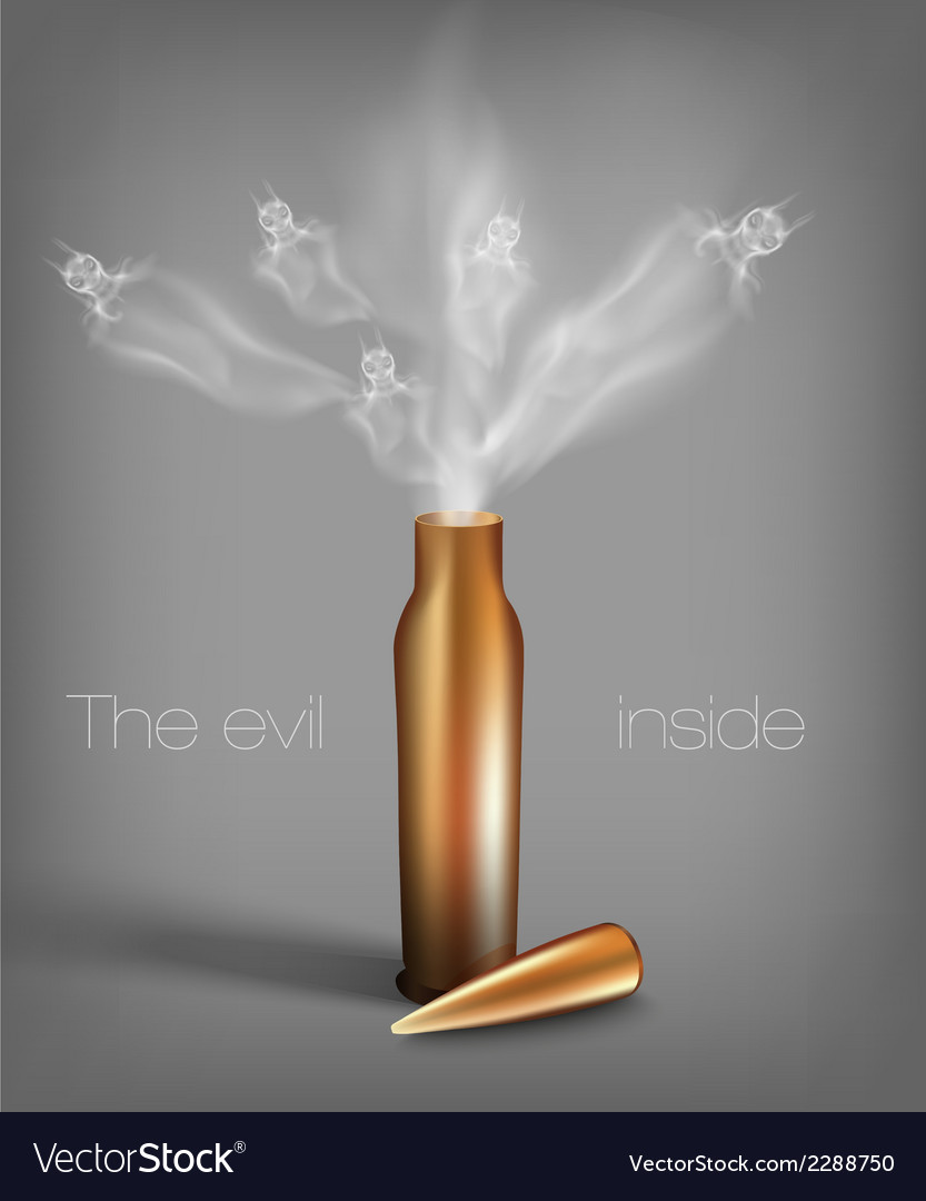 Bullet with demons vector | Price: 1 Credit (USD $1)