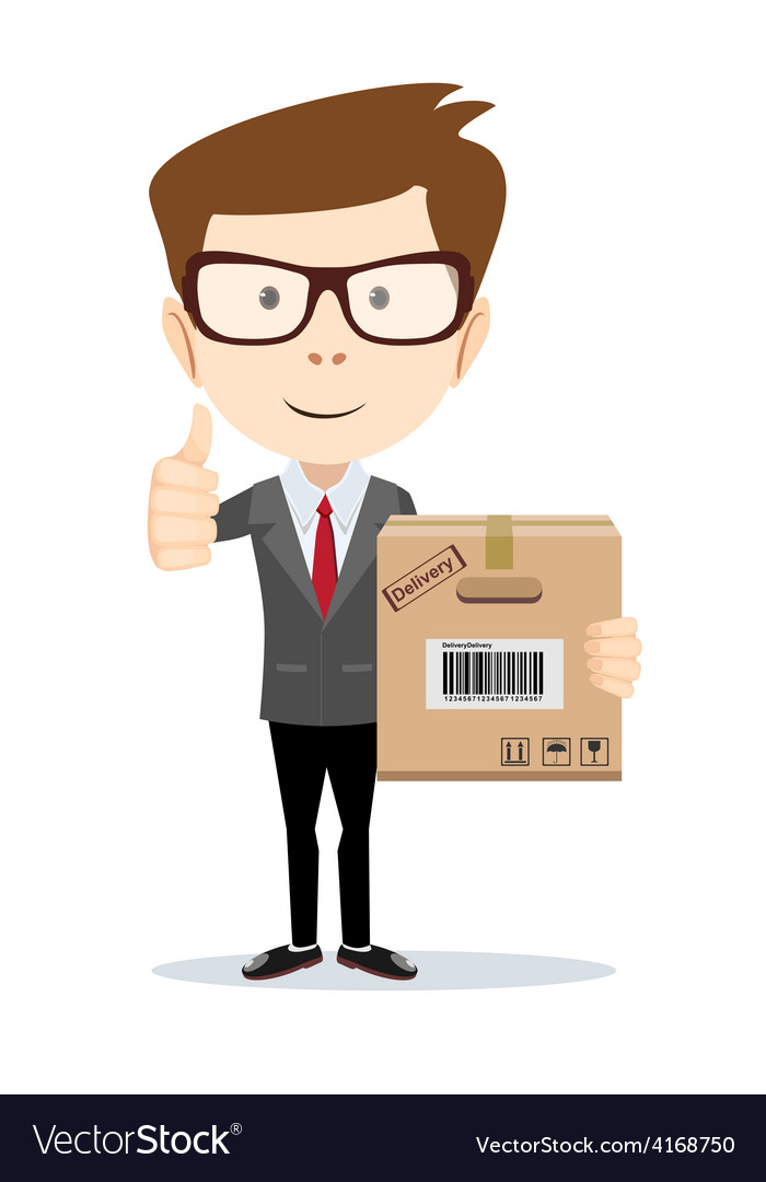 Businessman brought order vector | Price: 1 Credit (USD $1)