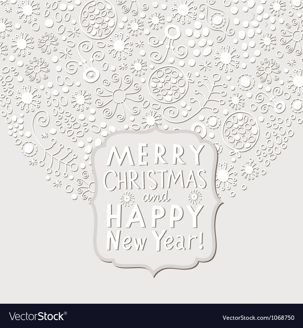 Christmas and new year elegance white card vector | Price: 1 Credit (USD $1)