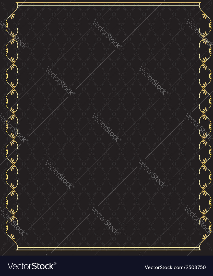 Elegant gold frame 2 vector | Price: 1 Credit (USD $1)