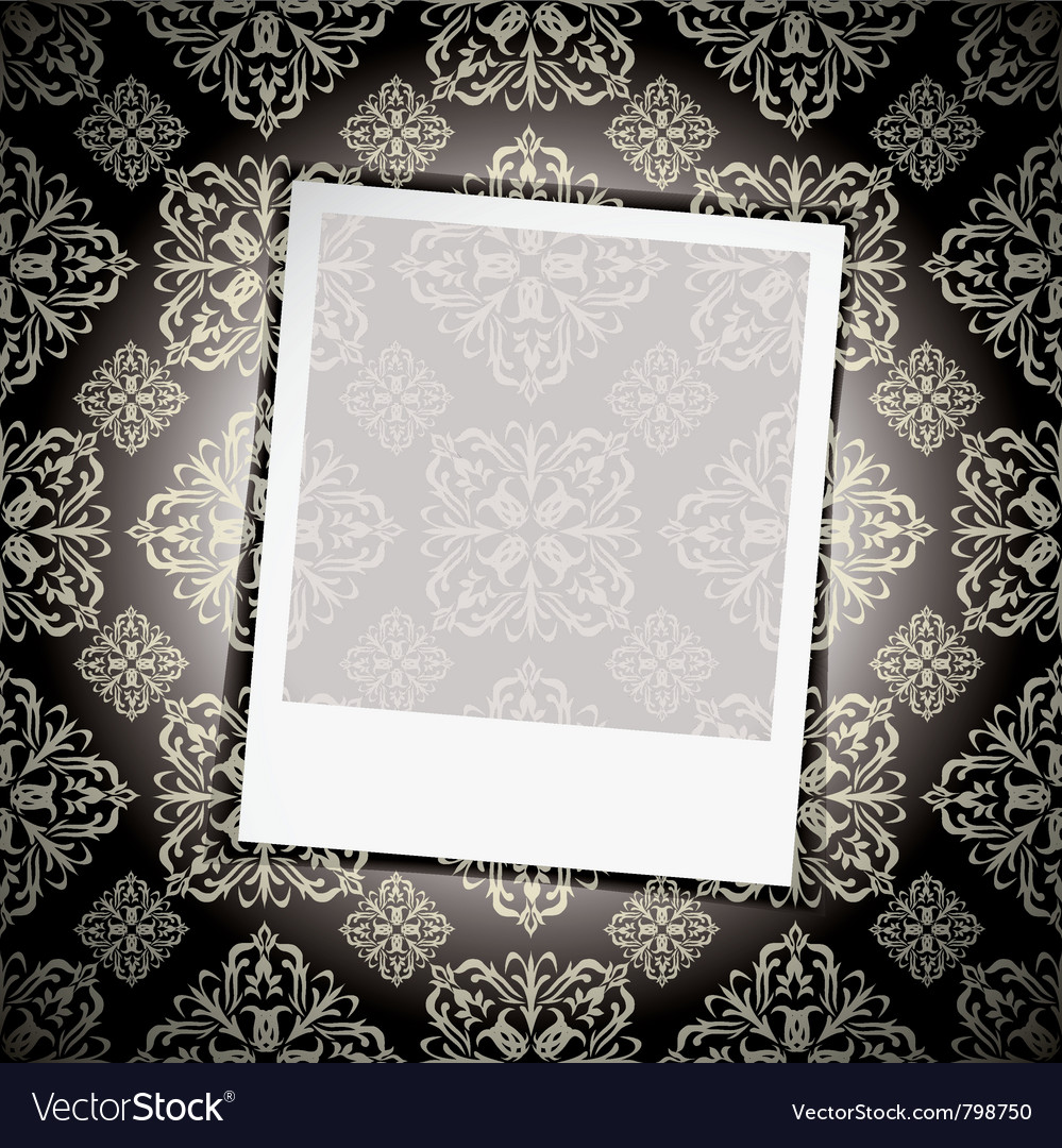 Floral wallpaper instant photograph vector | Price: 1 Credit (USD $1)