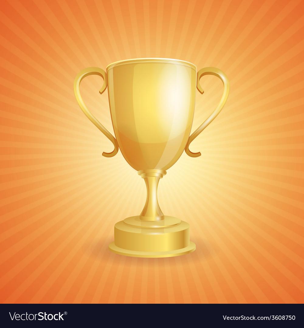 Golden winner cup on light vector | Price: 1 Credit (USD $1)