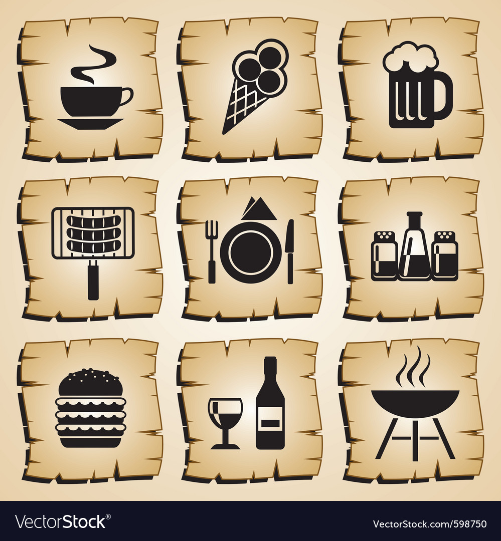 Icons food vector | Price: 1 Credit (USD $1)