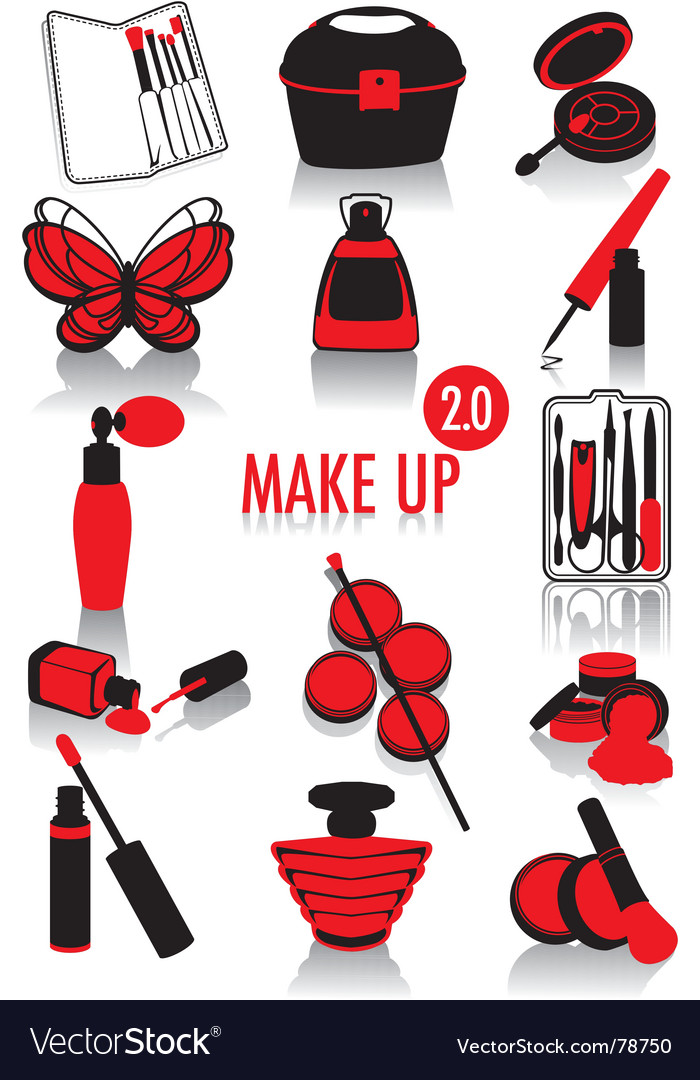 Makeup silhouettes vector | Price: 1 Credit (USD $1)